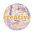 Creative Design Concept Spherized Typographic Word Cloud - PhotoDune Item for Sale