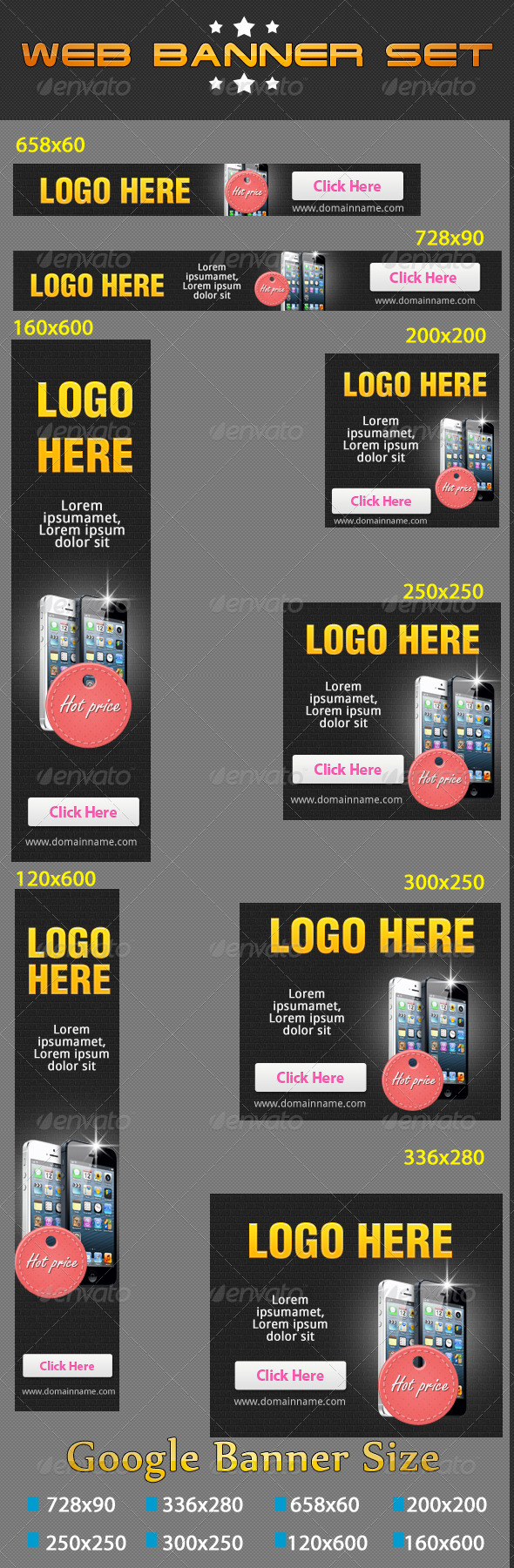 GraphicRiver Web Banners Set VOL-02 4275498