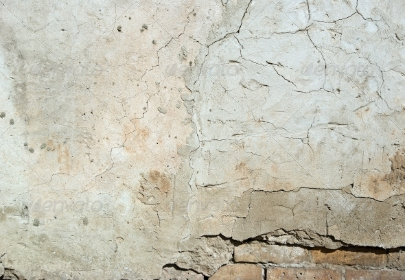 GraphicRiver Background high detailed fragment stone white wall 4392753