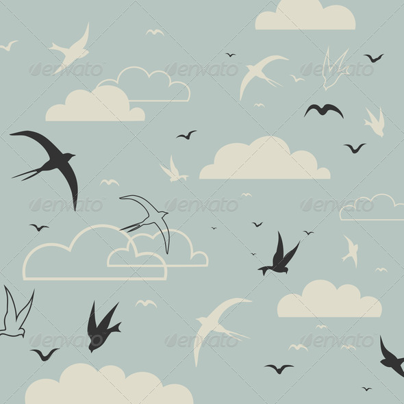 Bird in the sky - Stock Photo - Images