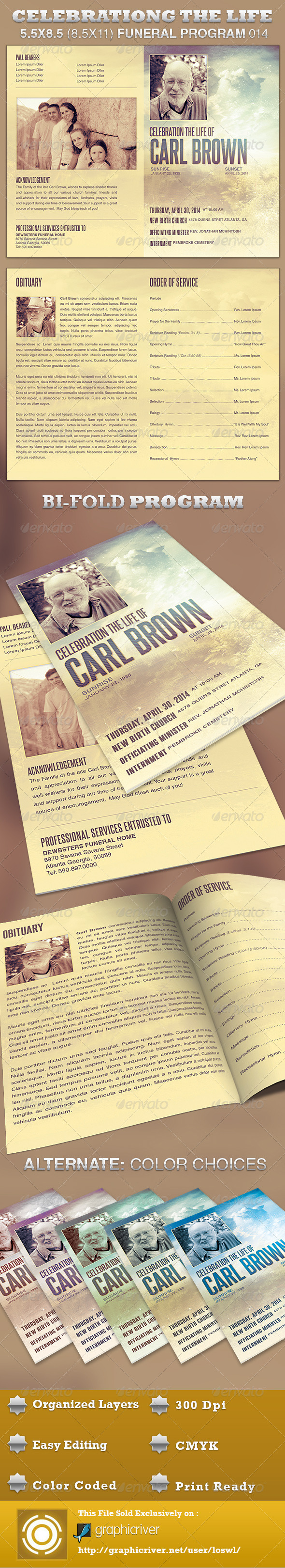 GraphicRiver Celebrating the Life Funeral Program Template 014 4392931