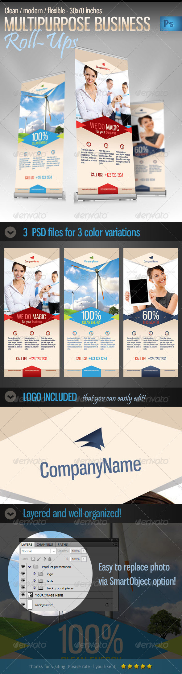 GraphicRiver Multipurpose Business Product Roll-up Banner 4394124