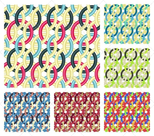 GraphicRiver Entwined Rings Seamless Patterns 4394162