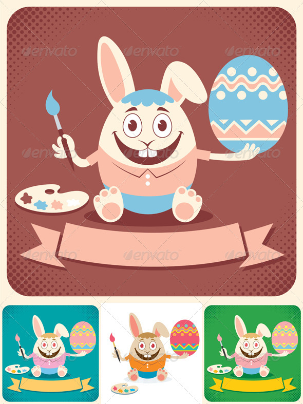 GraphicRiver Easter Card 4394337