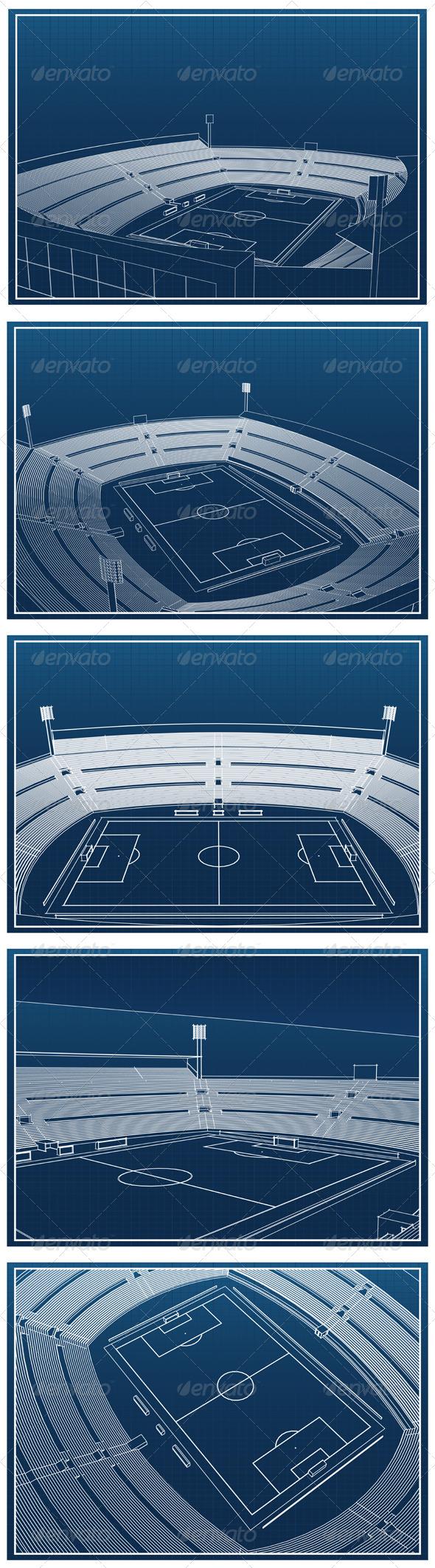 GraphicRiver Soccer Stadium Blueprints 4394765