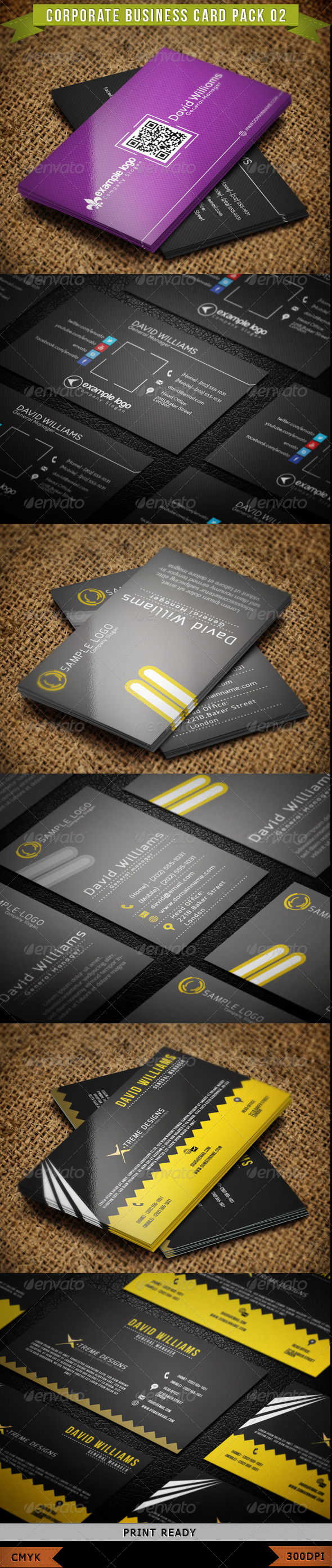 GraphicRiver Corporate Business Card Pack 02 4287337