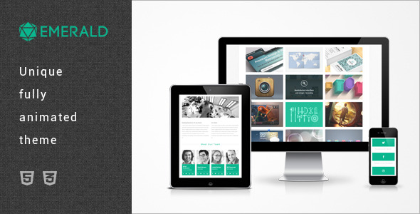 Emerald - Single Page HTML5/CSS3 Portfolio Theme