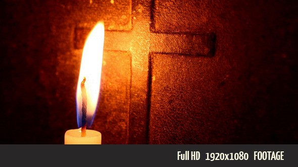 Candle With Bible - Stock Footage | VideoHive