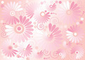 Pink Background  with  Flowers   - PhotoDune Item for Sale