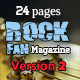 24 Pages Rock Fan Magazine Version Two - GraphicRiver Item for Sale