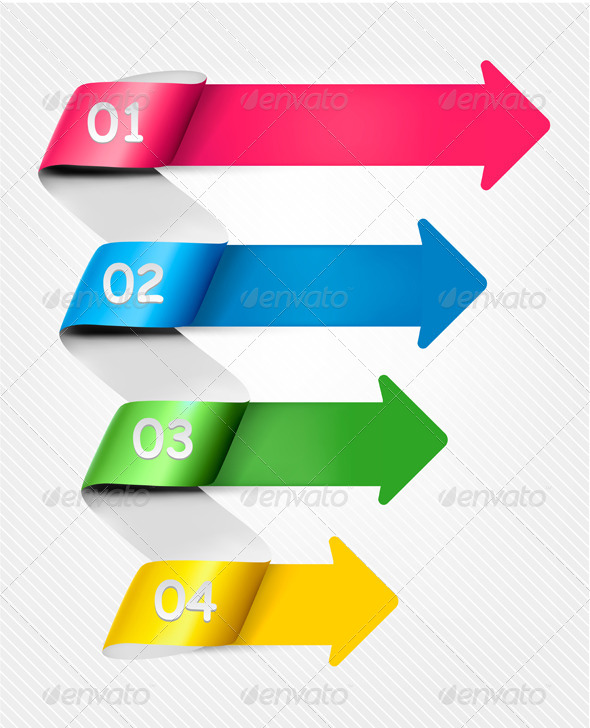 GraphicRiver Info Graphic Banner Set with Numbers 4397487