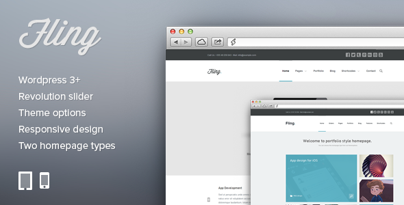 Fling - Responsive Portfolio WordPress Theme