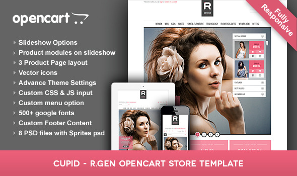 Cupid - R.Gen OpenCart Store Template