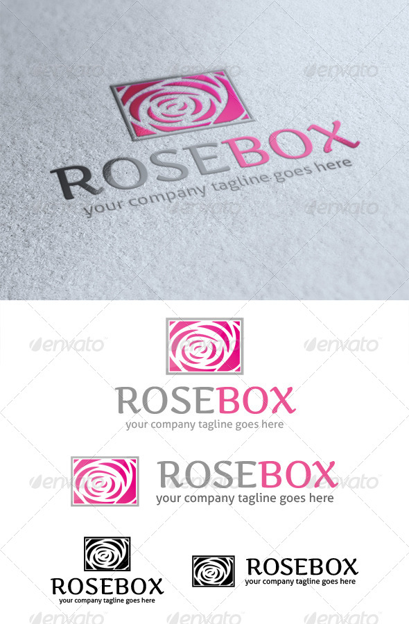 GraphicRiver Rose Box Logo 4119957