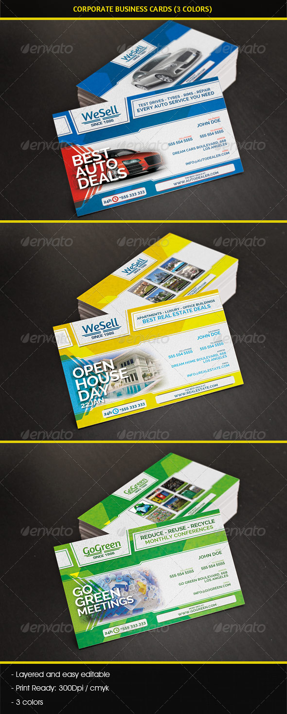GraphicRiver Multipurpose Corporate Business Cards 4398327