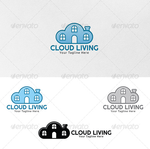 GraphicRiver Cloud Living Logo Template 4325615