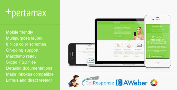 ThemeForest Mobile Friendly HTML Email Template Pertamax 4390331