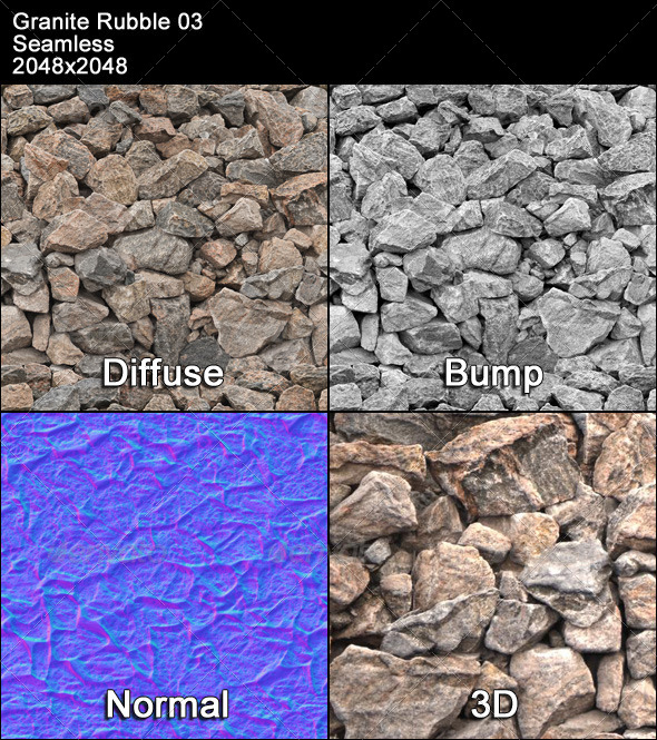 3DOcean Granite Rubble Texture Tileable 03 4399257
