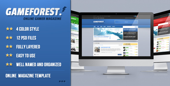 GameForest - Online Magazine Template