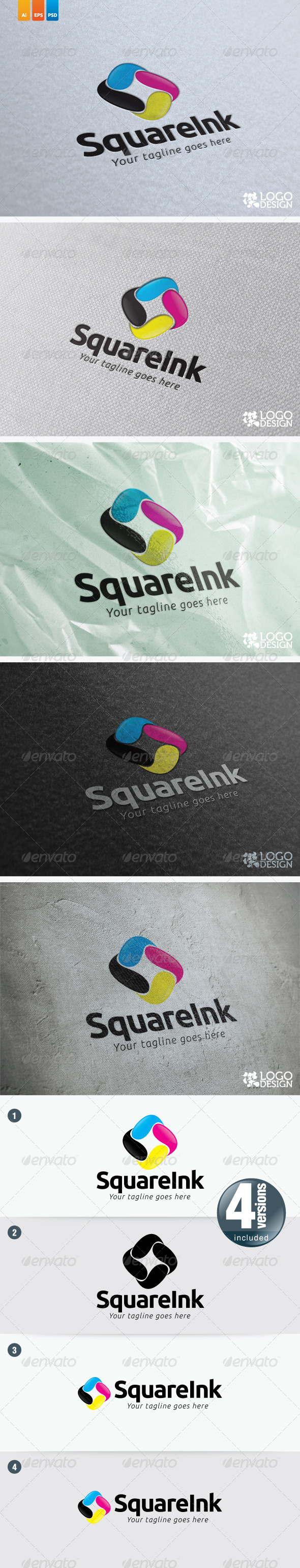 Square Ink - Vector Abstract