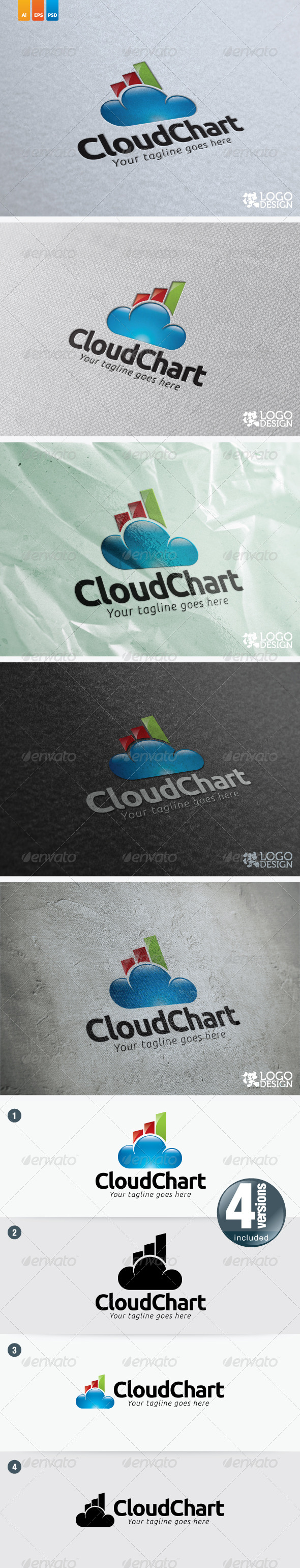 Cloud Chart - Symbols Logo Templates
