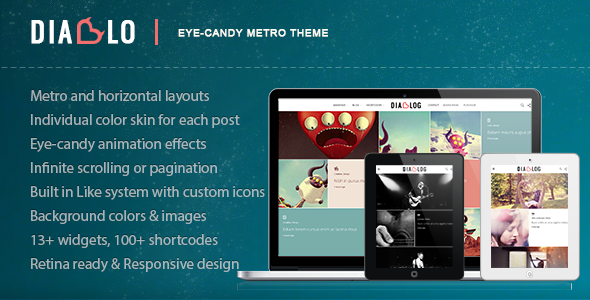 Diablo - Eye-candy Minimal Responsive WP Theme