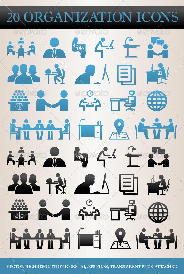 GraphicRiver 20 Organization Icons 4399581