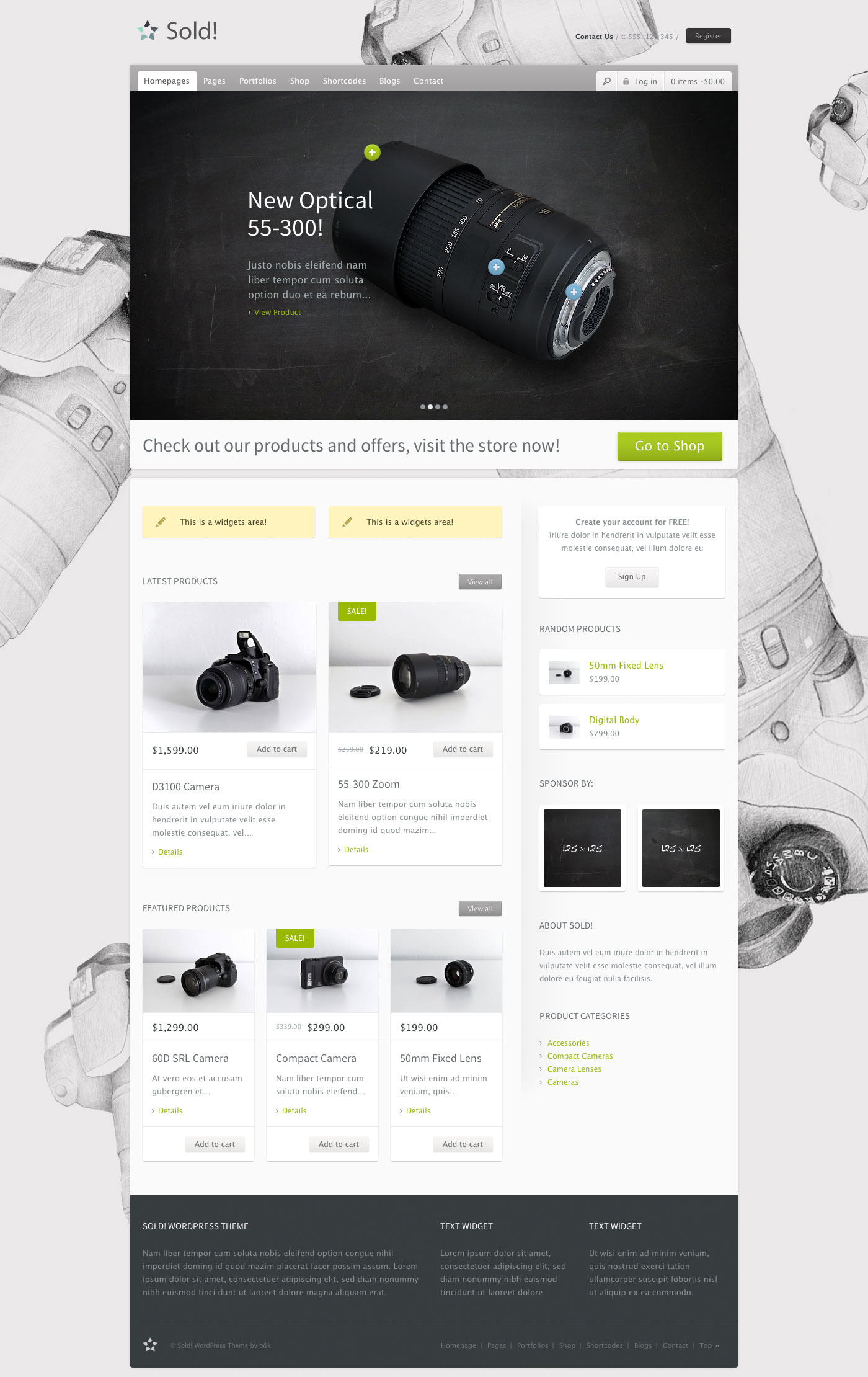 WordPress Sold! Responsive/E-Commerce Theme