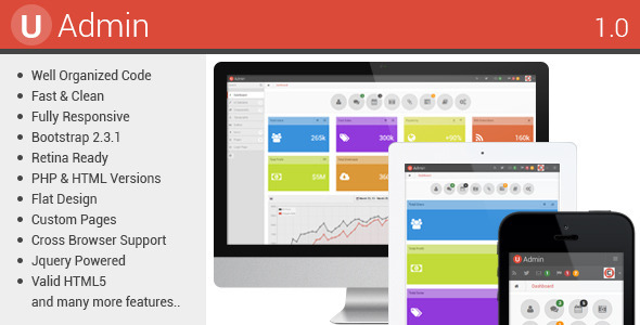 ThemeForest uAdmin Responsive Admin Dashboard Template 4399811