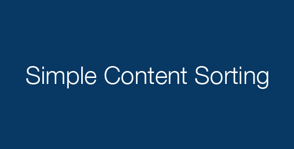 CodeCanyon Simple Content Sorting 472808