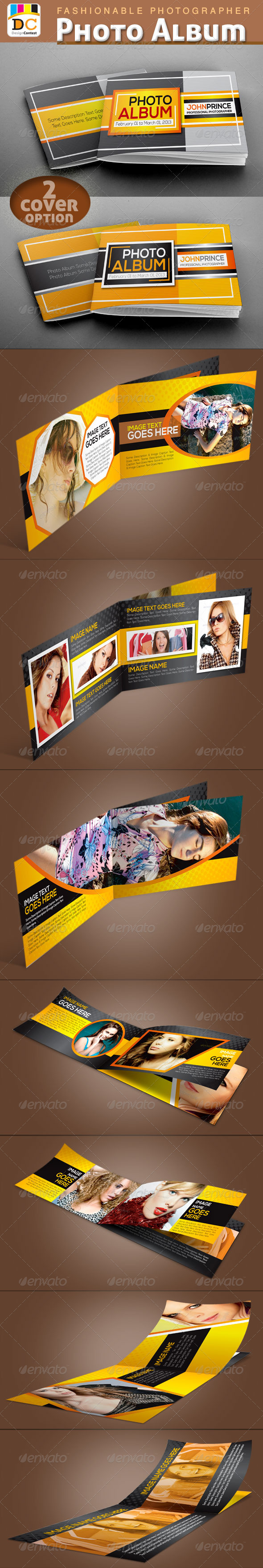 Fashionable Photographer Photo Album  - Photo Albums Print Templates