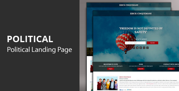 ThemeForest Political Responsive Landing Page 4322476