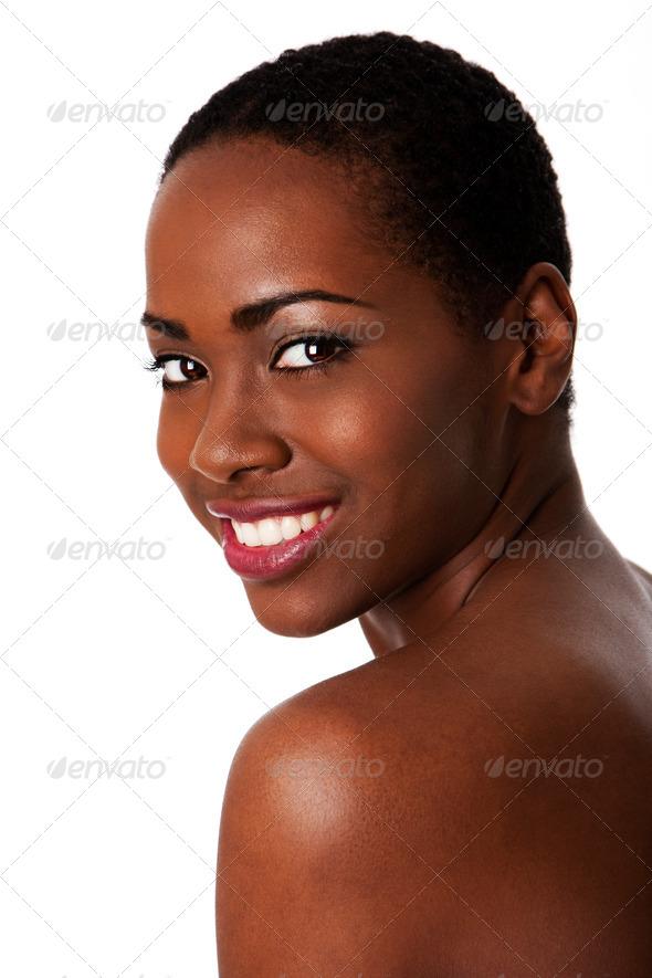 Stock Photo PhotoDune Happy Smiling African Woman Beautiful Teeth