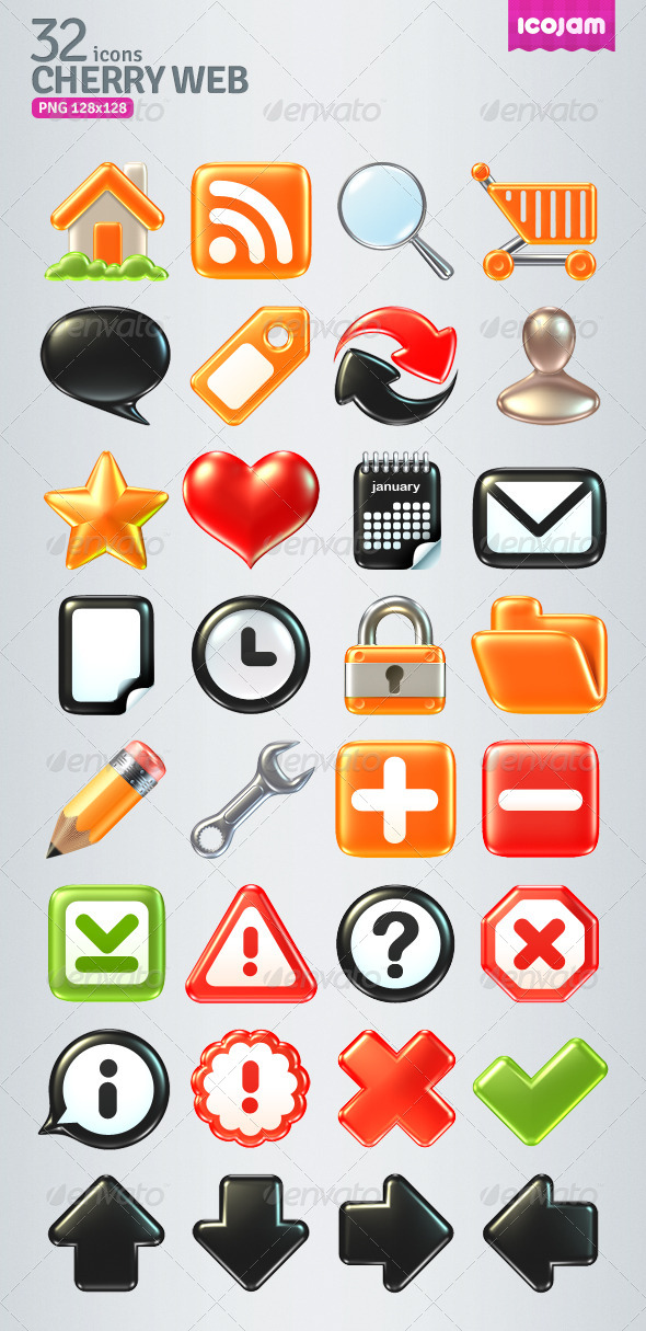 GraphicRiver 32 Raster Volume Icons 4402671