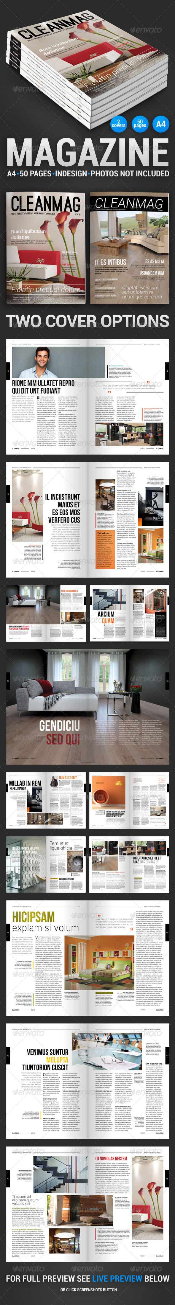 CleanMag 50 pages magazine - Magazines Print Templates