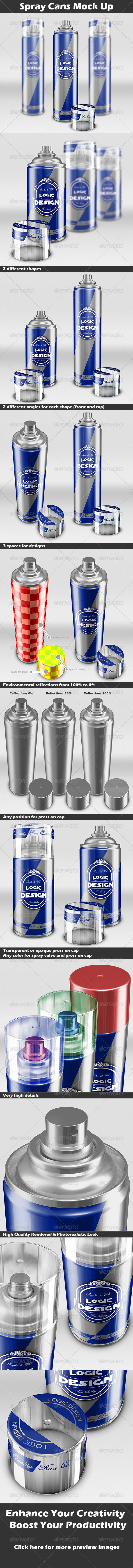 GraphicRiver Spray Cans Mock Up 4405617