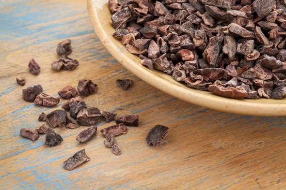 raw cacao nibs - Stock Photo - Images