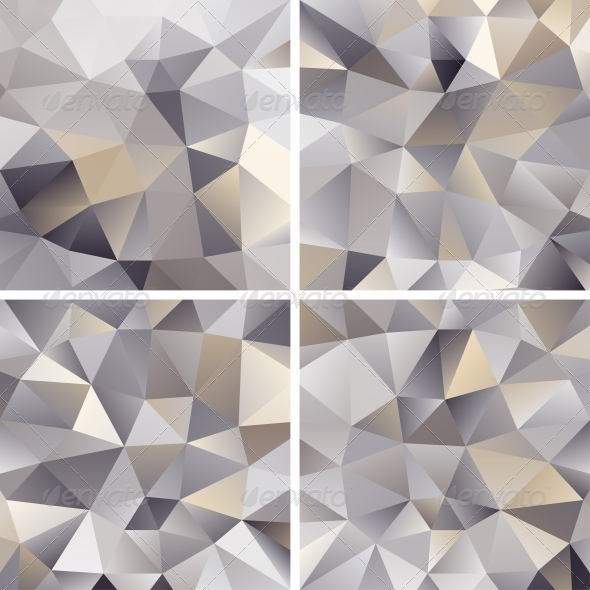 GraphicRiver Set of Abstract Triangle Backgrounds 4405646