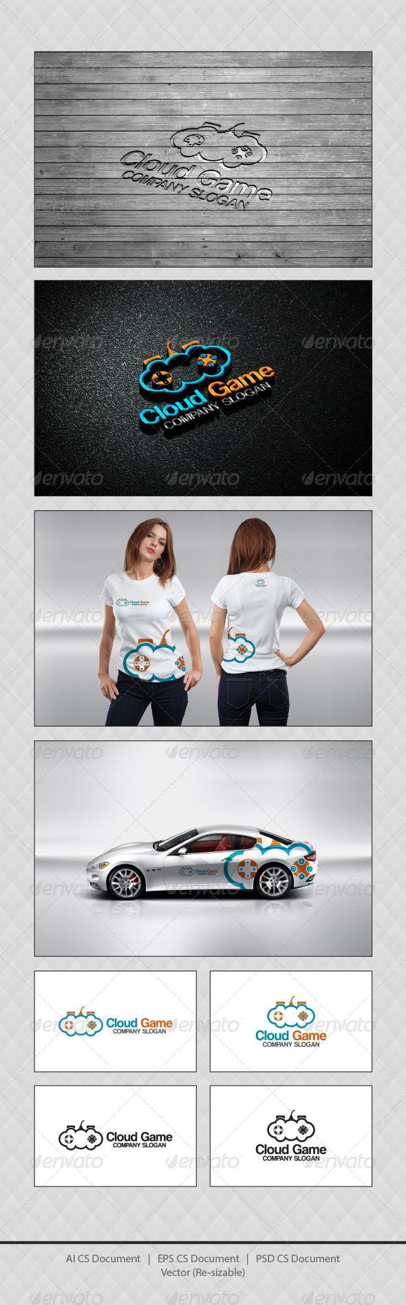 GraphicRiver Cloud Game Logo Templates 4406866