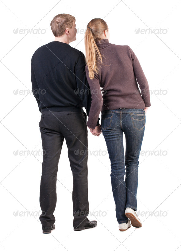 Back view of young couple - Stock Photo - Images