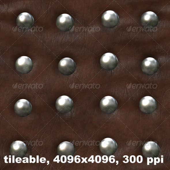 Studded Leather 1 - Fabric Textures