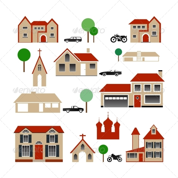 GraphicRiver Vector Collection of Various Buildings 4408977