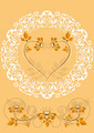 Openwork Frame with Orange Flowers and Hearts - PhotoDune Item for Sale