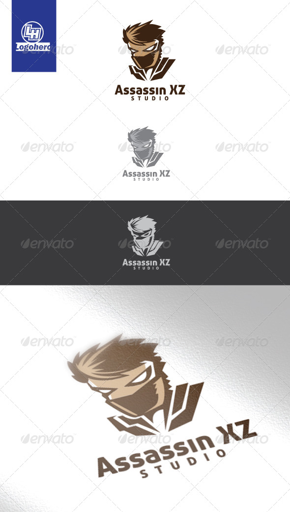 Assassin XZ Studio Logo Template - Humans Logo Templates