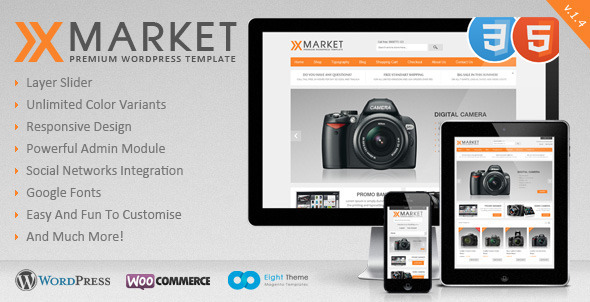 XMarket - Responsive WordPress E-Commerce Theme - ThemeForest Item for Sale