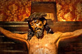 Jesus on the cross, carved in polychrome wood - PhotoDune Item for Sale