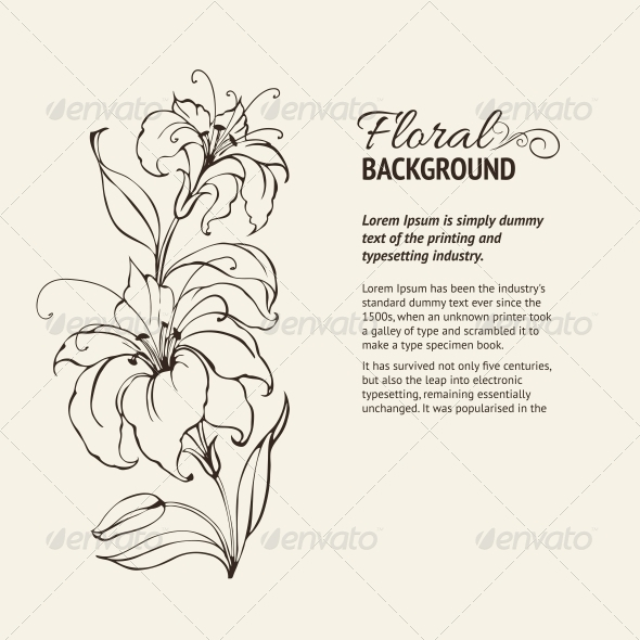 GraphicRiver Blooming Lilies 4410880