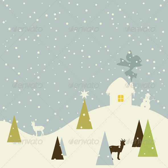 GraphicRiver Christmas Small House 4411072