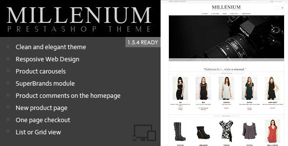 Millenium - Responsive Prestashop 1.5 Theme - Fashion PrestaShop