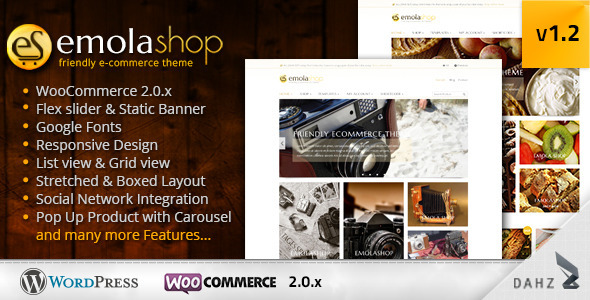 EmolaShop - A Friendly Wordpress eCommerce Theme - WooCommerce eCommerce